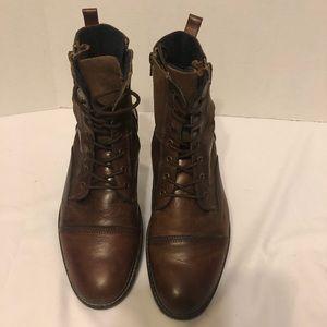 Men's Aldo leather & suede combat boots.